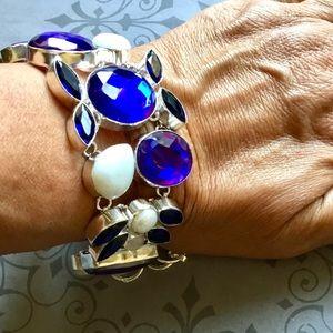 Moonstone Opal Howlite Pearl Gemstone Bracelet